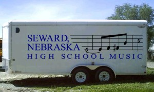 Band equipment trailer