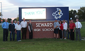 Seward High School Video Marquee